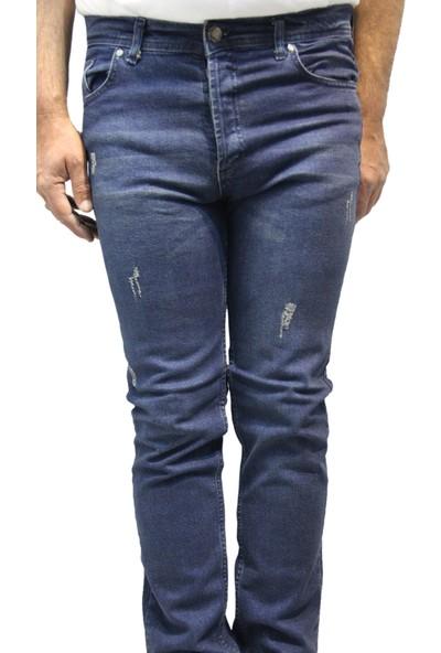 Saflee 771 Dar Kesim Oturtmalı Kalıp Likralı Erkek Kot Pantolon