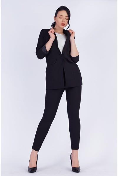 Ewa Moda Blazer Ceket Pantolon Takım Siyah
