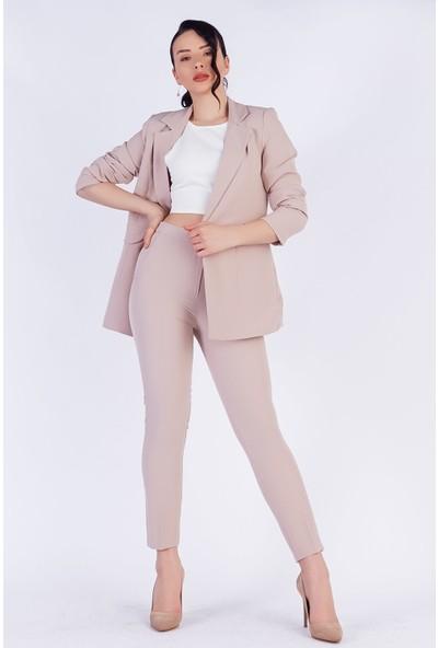 Ewa Moda Blazer Ceket Pantolon Takım Taş