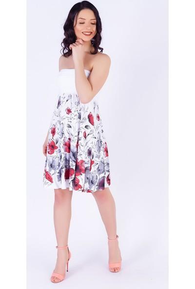Ewa Moda 4 Şekilde Giyilen Suprem Etekelbise Beyaz
