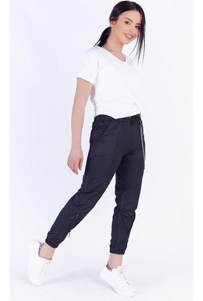 Ewa Moda Zincirli Kargo Pantolon Siyah