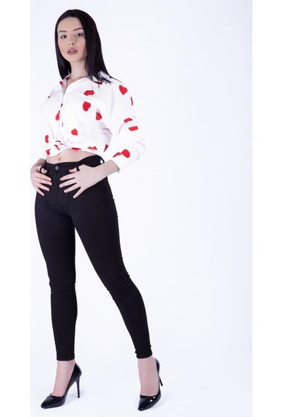 Ewa Moda Yüksek Bel Skinny Jean Siyah