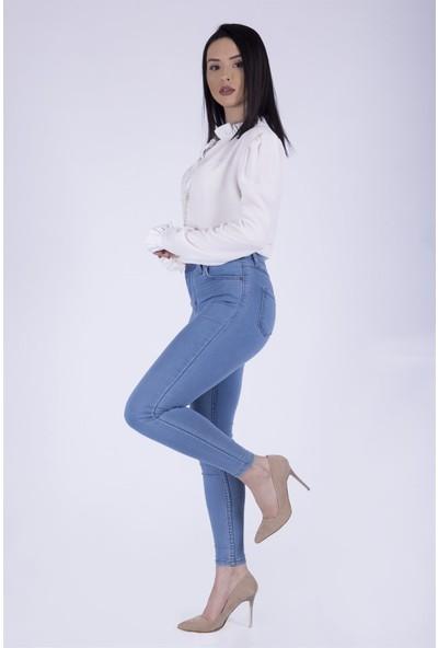 Ewa Moda Yüksek Bel Skinny Jean Mavi