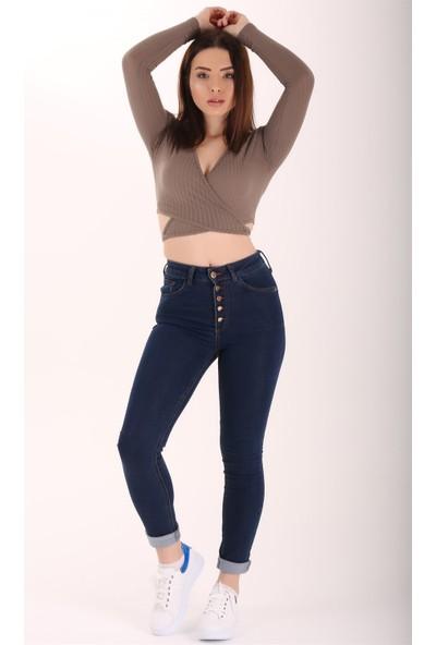 Ewa Moda Yüksek Bel Full Lycra Skinny Jean Lacivert