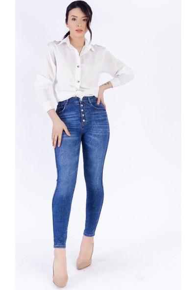 Ewa Moda Full Lycra Yıkamalı Skinny Jean Mavi