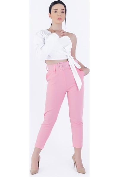 Ewa Moda Tekkol Bluz Pantolon Takım Pembe