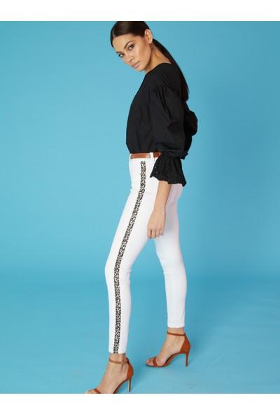 LTB Tanya X White Leopard Wash Kadın Pantolon