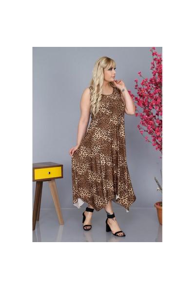 NBB Kadın Leopar Desen Elbise