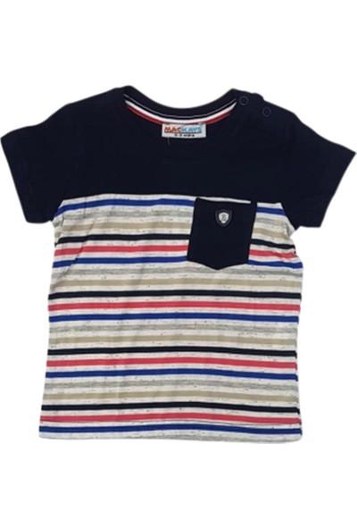 Mackays Baby 2381 Çizgili Erkek Bebek T-Shirt