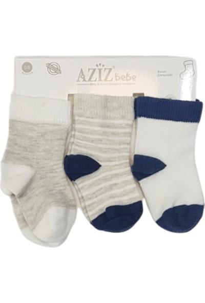 Aziz Bebe C35411 Erkek Bebek 3'Lü Çorap