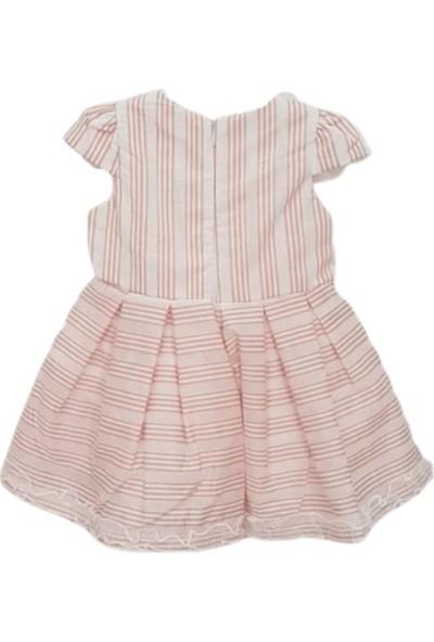 Baby Rose 2754 Çizgili Organzeli Kız Bebek Elbise
