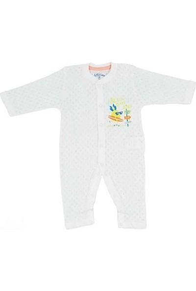 Aziz Bebe 6510 Erkek Bebek Jakarlı Patiksiz Tulum