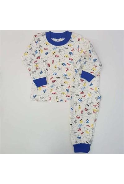 Samet Kids 3000 Araba Baskılı Erkek Bebek Pijama Takımı