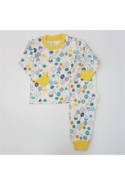 Samet Kids 3000 Balon Baskılı Erkek Bebek Pijama Takımı