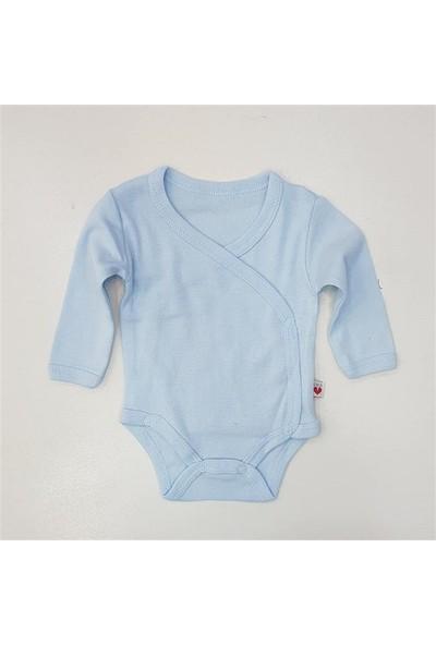 Veo Baby 12987 Yandan Çıtçıtlı Badi 0-12 Ay Mavi