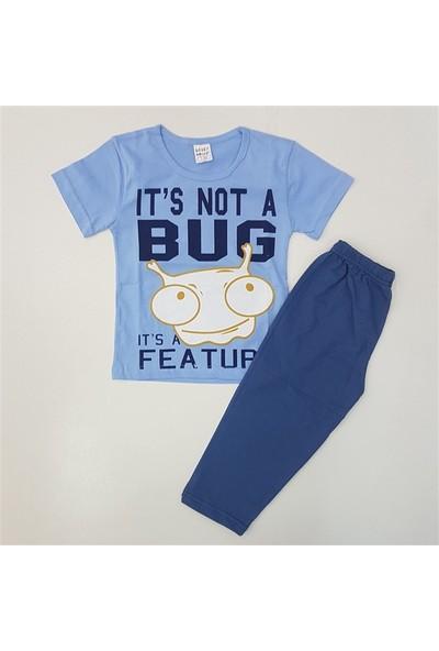 Lolly Dolly 06387 Kısa Kol Pijama Takımı 3-9 Yaş Mavi