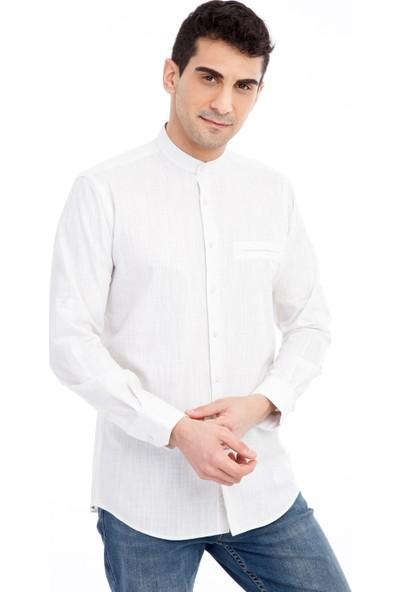 Kiğılı Uzun Kol Hakim Yaka Gömlek