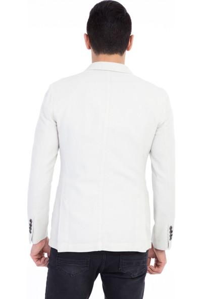 Kiğılı Desenli Spor Yıkamalı Ceket