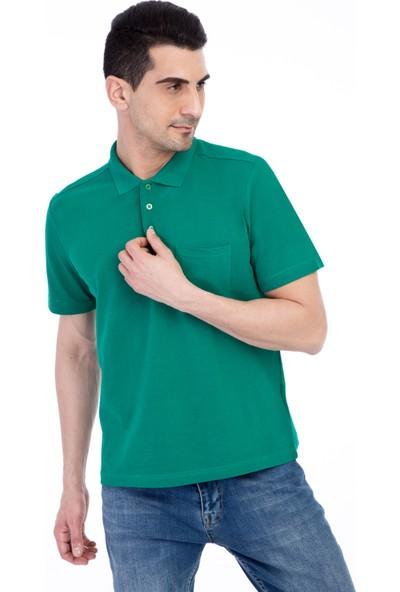 Kiğılı Polo Yaka Düz Regular Fit Tişört