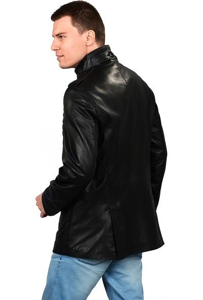 Deriza Fullion Siyah Deri Ceket