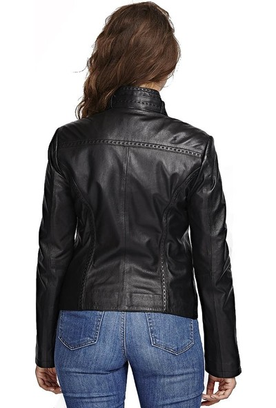 Deriza Laura Siyah Deri Ceket