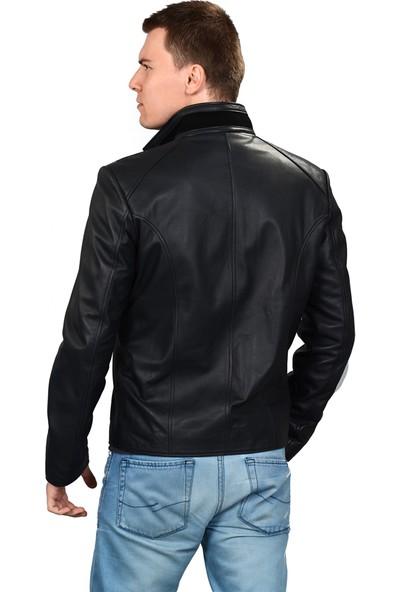 Deriza Tirex Siyah Deri Ceket