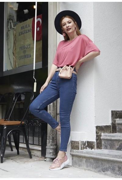 Femme Kadın Mavi Yüksel Bel Skinny Jeans FM5591