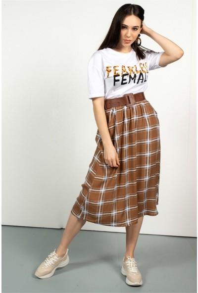 Livanomi Kadın Beyaz Famale T-Shirt