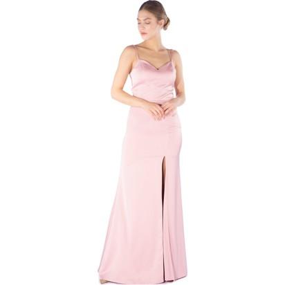 ecd60a5b935a5 6ixty8ight Pudra Askılı Yırtmaçlı Uzun Balık Abiye Elbise Fiyatı