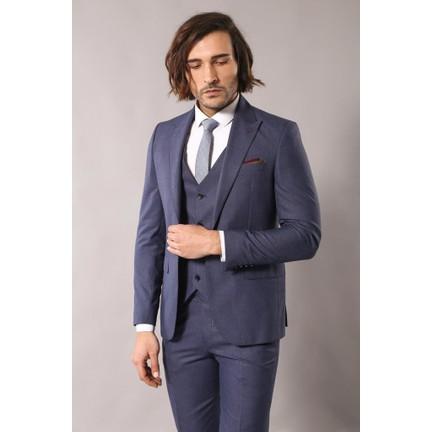 f26da5b52652b Wessi Desenli Koyu Mavi Takım Elbise Fiyatı - Taksit Seçenekleri