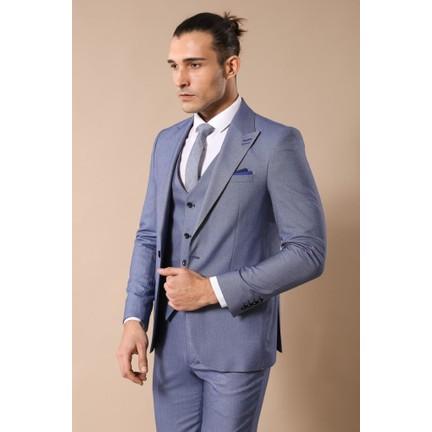 940a1f20c9564 Wessi Yelekli Buz Mavisi Takım Elbise Fiyatı - Taksit Seçenekleri