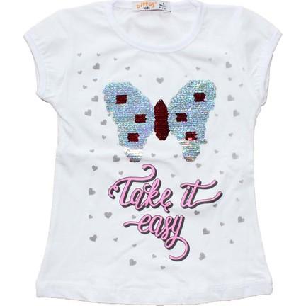 00d7a5594d5ba Biricik's Pullu Kelebek Nakışlı Kız Çocuk T-Shirt - Kırmızı Fiyatı
