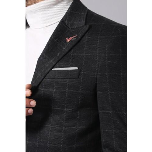 3063ace7cdc9b Wessi Ekose Siyah Kısa Palto Fiyatı - Taksit Seçenekleri