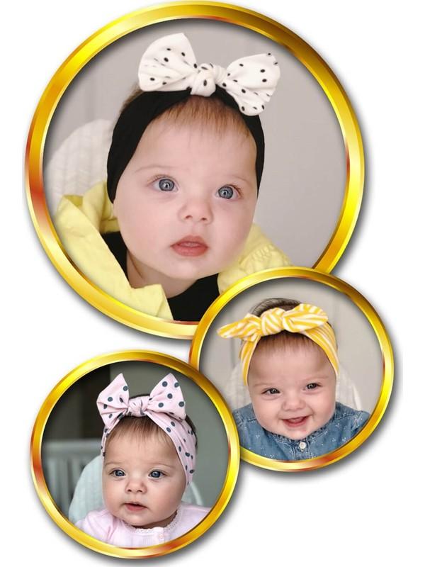 Babygiz Fiyonk Detaylı Bebek 3'lü Bandana Seti