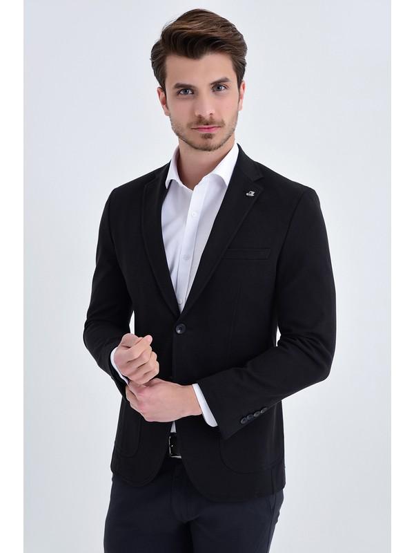 Hatemoğlu Siyah Slim Fit Ceket