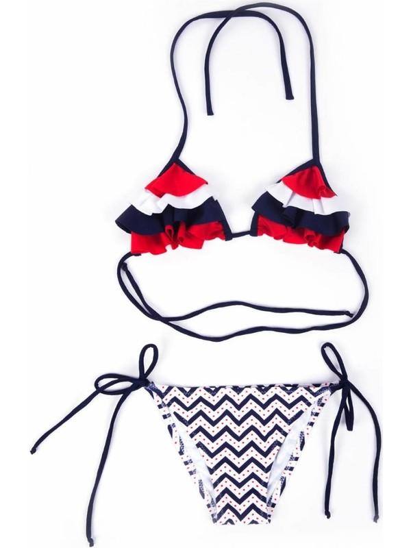 Ayyıldız Kız Çocuk 28809 Bikini Lacivert