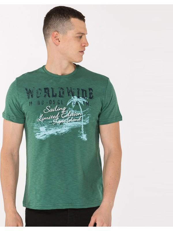 Mille Teppo Erkek T-Shirt Yeşil