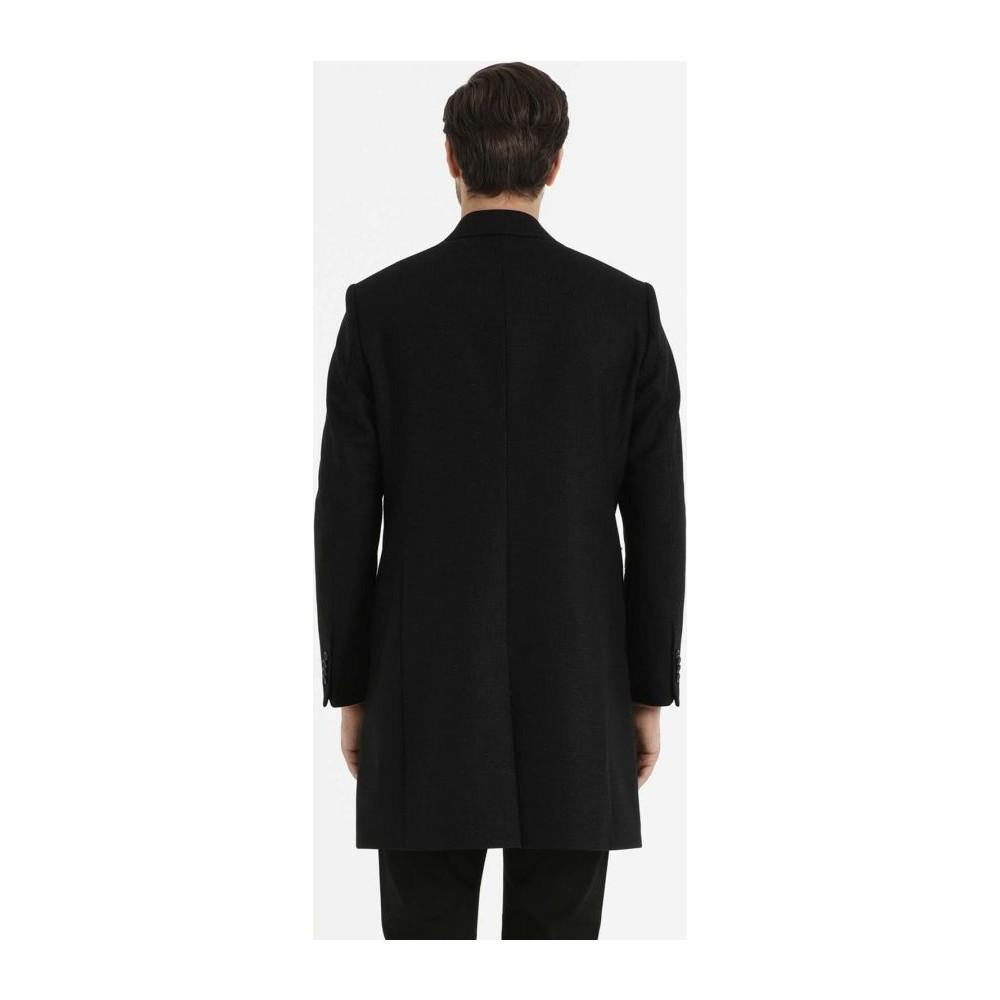 fe02d5ea87b09 Hatemoğlu Siyah Klasik Yün Palto Fiyatı - Taksit Seçenekleri