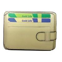 Gold Life Deri Erkek Kartlık Cüzdan - Krem