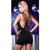 Merry See Özel Tasarım Siyah Mini Elbise