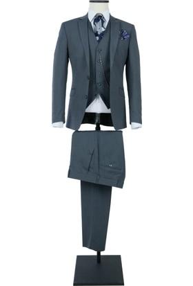 a82cdac2c81f9 Centone Takım Elbise Yelekli Slim Fit 6 Drop 19-0083 ...