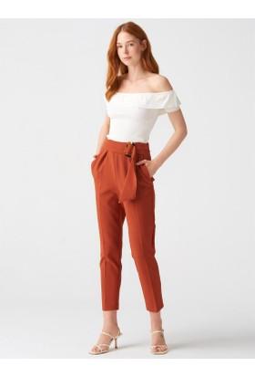 2ea1fc463f491 Kahverengi Yüksek Bel Pantolon Modelleri ve Fiyatları & Satın Al