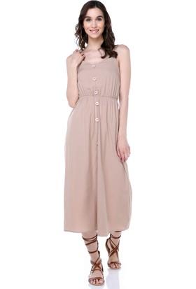 Sense 31554 Ön Düğmeli Kroşetalı Ayarlı Elbise