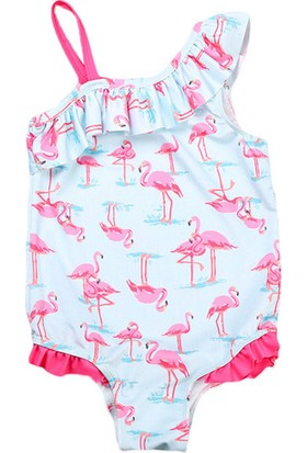 Unika Moda Flamingo Mayo Kız Çocuk Mayosu - Çocuk Havuz Bikini Mayo - Yüksek Kalite