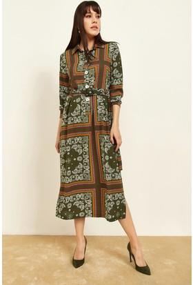 0ab938dd316aa Lafaba Kadın Haki Desenli Gömlek Elbise Lafaba Kadın Haki Desenli Gömlek  Elbise ...