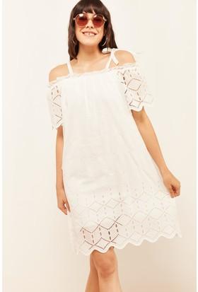 0704254d8631b Lafaba Kadın Beyaz Güpür Elbise Lafaba Kadın Beyaz Güpür Elbise ...