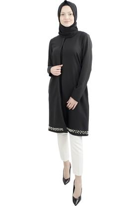 Arda New Line Kadın Siyah Tunik 7709057-10.01