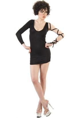 LQ Tek Kollu Mini Gece Elbisesi