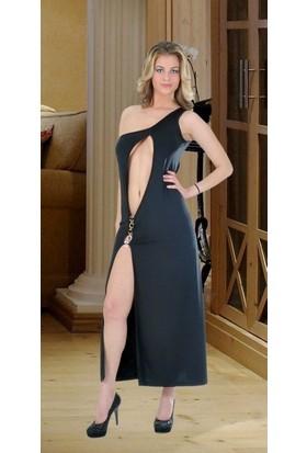 JT Seksi Uzun Dekolte Elbise 112122