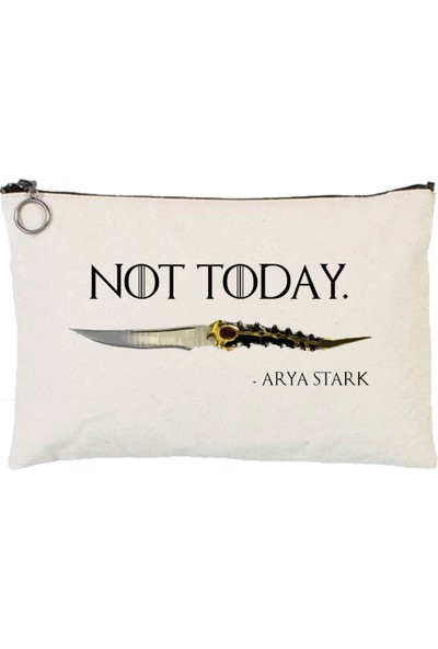 Art T-Shirt Not Today Arya Stark Tablet Ve Makyaj Çantası